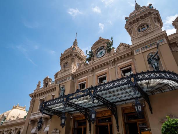 Monaco Casino Monte-Carlo building exterior. Top tourist attraction in this wealthy millionaire style principality