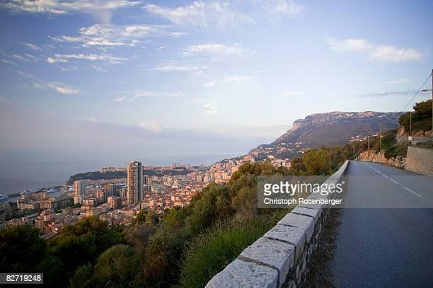Monaco cityscape, elevated view