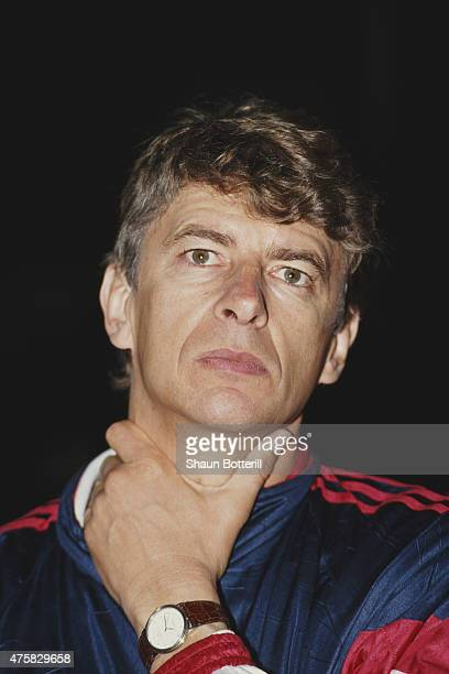 Monaco coach Arsene Wenger looks on during a game circa 1992