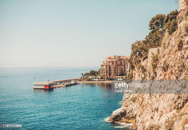 monaco coastline - culture méditerranéenne photos et images de collection