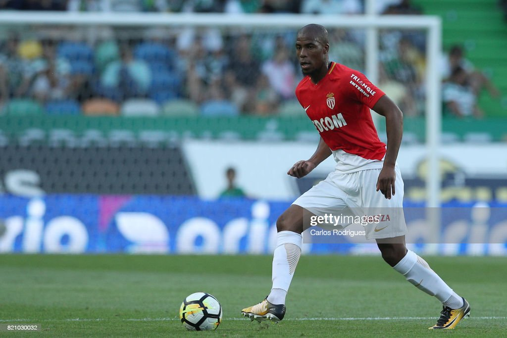 Monaco defender Djibril Sidibe from France during the Friendly match between Sporting CP and AS Monaco at Estadio Jose Alvalade on July 22, 2017 in Lisbon, Portugal.