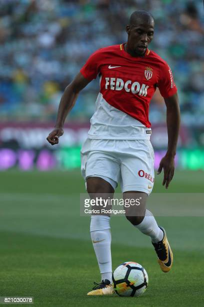 Monaco defender Djibril Sidibe from France during the Friendly match between Sporting CP and AS Monaco at Estadio Jose Alvalade on July 22 2017 in...