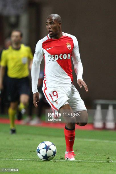 Monaco defender Djibril Sidibe in action during the Uefa Champions League semi finals football match MONACO JUVENTUS on at the Stade Louis II in...