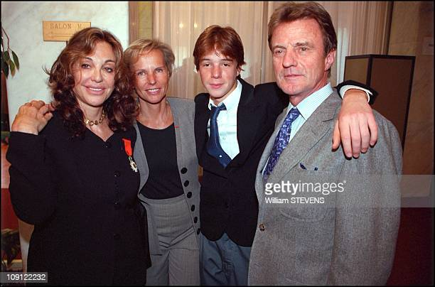 Monaco Family Attend Ceremony In Which Albina Du Boisrouvray Was Made A Knight In The French Order Of The Legion Of Honor On September 5Th 2001 In...