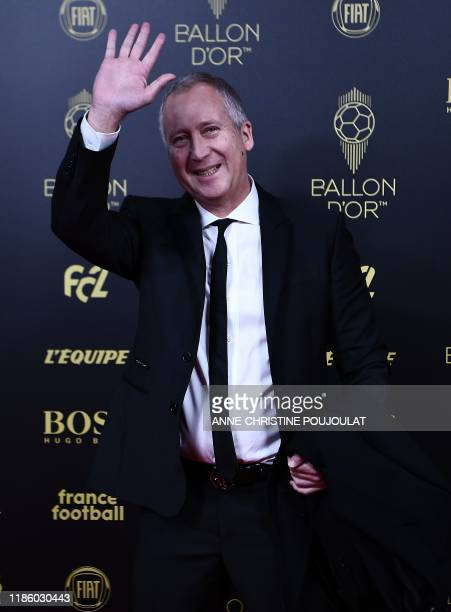 AS Monaco FC's Russian former vice president Vadim Vasilyev arrives to attend the Ballon d'Or France Football 2019 ceremony at the Chatelet Theatre...