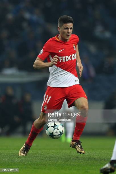 Monaco forward Guido Carrillo from Argentina during the match between FC Porto v AS Monaco or the UEFA Champions League match at Estadio do Dragao on...
