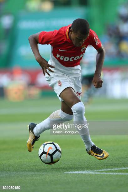 Monaco forward Kylian Mbappe from France during the Friendly match between Sporting CP and AS Monaco at Estadio Jose Alvalade on July 22 2017 in...