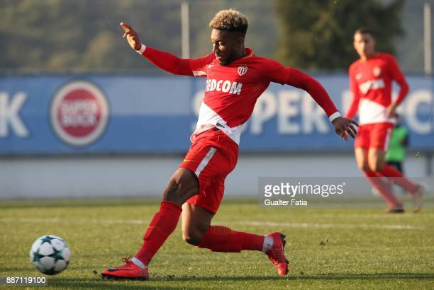 Monaco forward Moussa Sylla from France in action during the UEFA Youth League match between FC Porto and AS Monaco at Centro de Estagios do Olival...