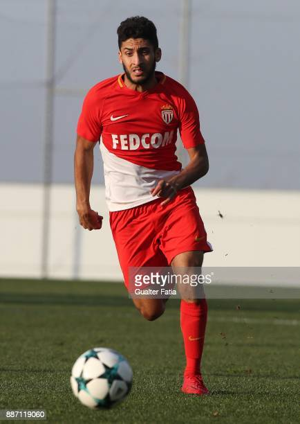 Monaco forward Nail Alioui from France in action during the UEFA Youth League match between FC Porto and AS Monaco at Centro de Estagios do Olival on...