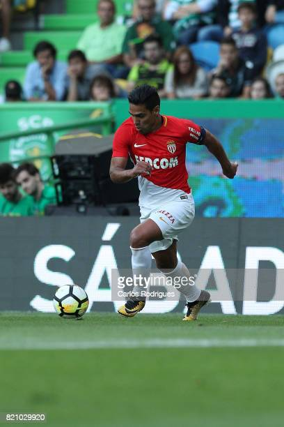 Monaco forward Radamel Falcao from Colombia during the Friendly match between Sporting CP and AS Monaco at Estadio Jose Alvalade on July 22 2017 in...