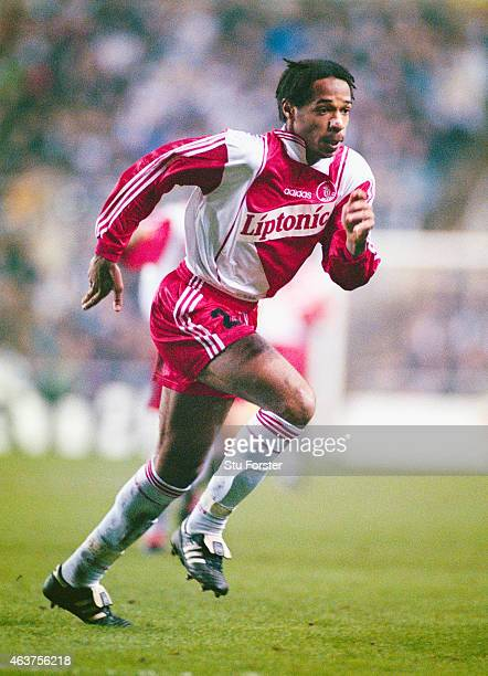 Monaco forward Thierry Henry in action during a UEFA Cup Quarter Final 1st leg match between Newcastle United and Monaco at St James' Park on March...
