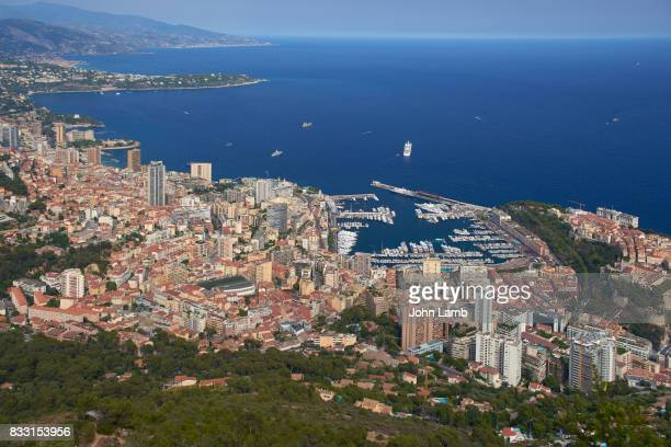 Monaco from elevated viewpoint.