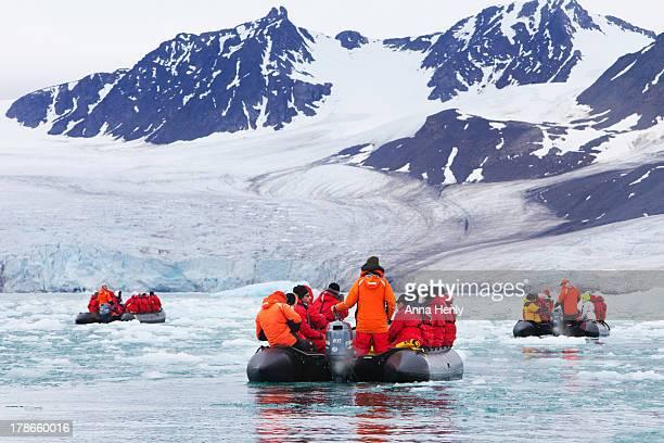 Monaco glacial ice in Spitsbergen, Svalbard