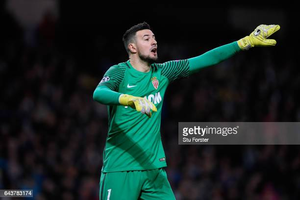 Monaco goalkeeper Danijel Subasic in action during the UEFA Champions League Round of 16 first leg match between Manchester City FC and AS Monaco at...