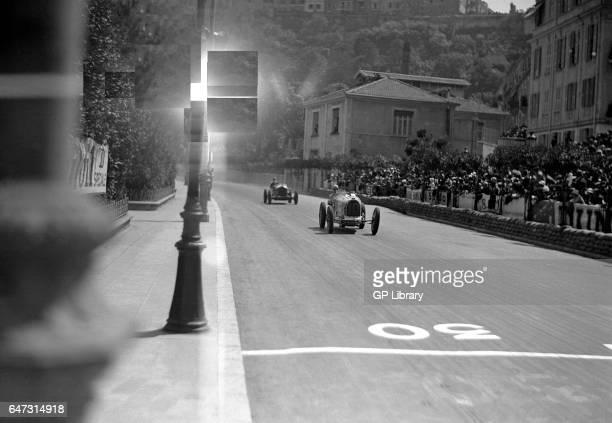 Monaco gp Bugatti leads Alfa Romeo