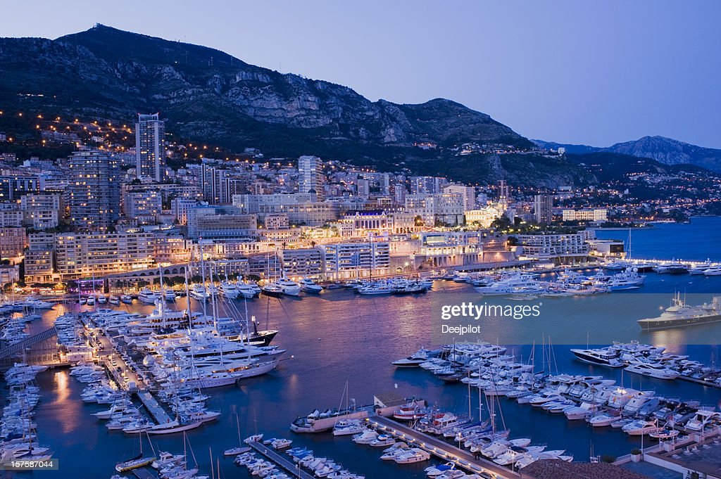 Monaco Harbour and Marina in Monte Carlo : Stock Photo