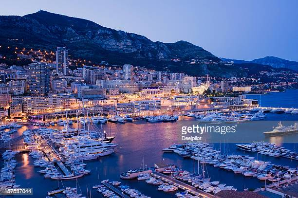 monaco harbour and marina in monte carlo - monaco stock pictures, royalty-free photos & images