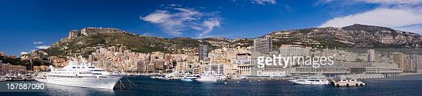 monaco harbour and marina in monte carlo - marina stock pictures, royalty-free photos & images