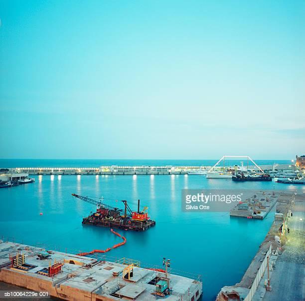 Monaco harbour, elevated view