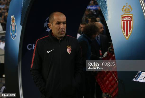 Monaco head coach Leonardo Jardim from Portugal before the start of the UEFA Champions League match between FC Porto and AS Monaco at Estadio do...