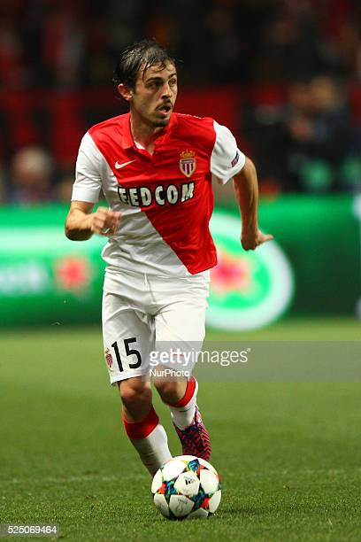 Monaco midfielder Bernardo Silva in action during the Uefa Champions League quarter final football match JUVENTUS - MONACO on 22/04/15 at the Stade...