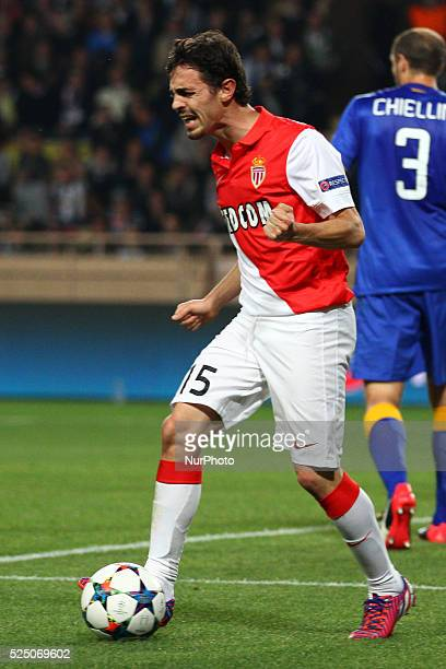 Monaco midfielder Bernardo Silva shows dejection during the Uefa Champions League quarter final football match JUVENTUS - MONACO on 22/04/15 at the...