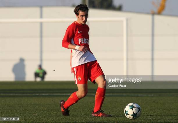Monaco midfielder Maxence Toutain from France in action during the UEFA Youth League match between FC Porto and AS Monaco at Centro de Estagios do...
