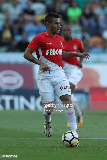 Monaco midfielder Rony Lopes from Portugal during the Friendly match between Sporting CP and AS Monaco at Estadio Jose Alvalade on July 22 2017 in...