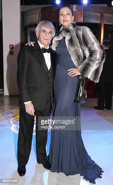 Formula One Administration boss, British Bernie Ecclestone and his wife pose prior the 2005 FIA Awards gala, 09 December 2005 in Monaco. Alonso won...