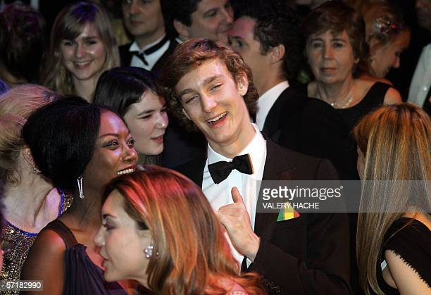 Pierre Casighari son of Princess Caroline of Hanover the sister of Prince Albert II of Monaco dances 25 march 2006 during the annual Rose Ball at the...