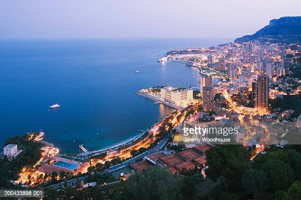 monaco, monte carlo, aerial view - monte carlo stock pictures, royalty-free photos & images