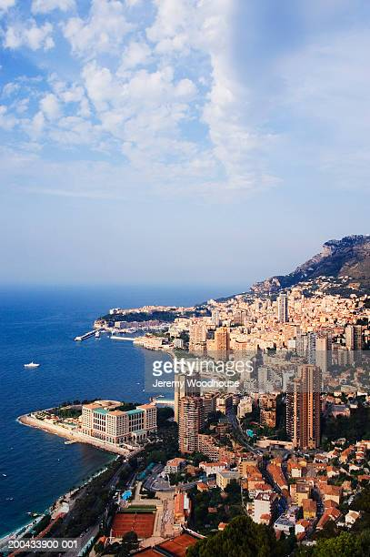 monaco, monte carlo, elevated view - monte carlo stock pictures, royalty-free photos & images