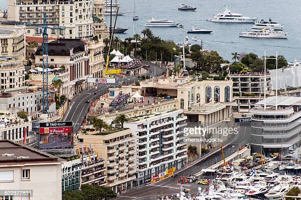 monaco, monte carlo - grand prix motor racing stock pictures, royalty-free photos & images