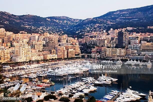 Monaco, Monte Carlo, view of skyline, dawn