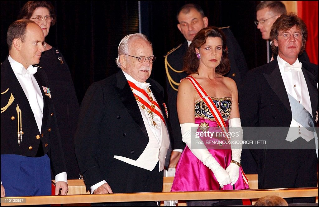 Monaco National Day: Gala At The Grimaldi Forum In Monaco City, Monaco On November 19, 2001. : News Photo