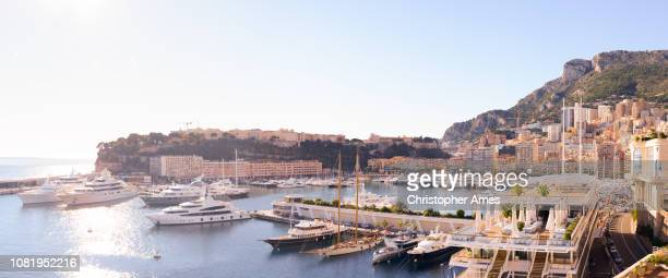 monaco panorama - monaco stock pictures, royalty-free photos & images