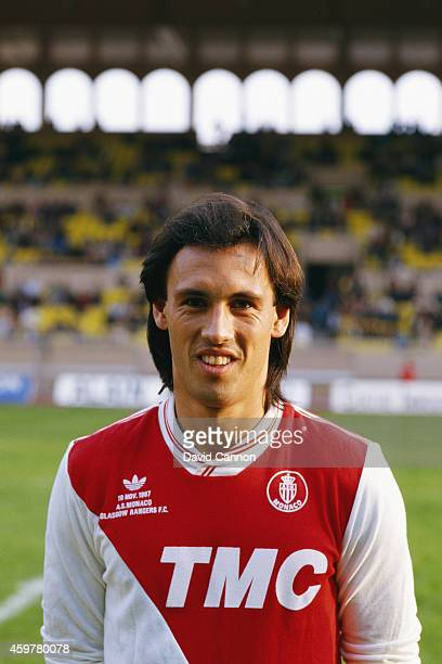 Monaco player Mark Hateley pictured before a friendly match between Monaco and Glasgow Rangers at the Stade Louis II on November 19 1987 in Monaco