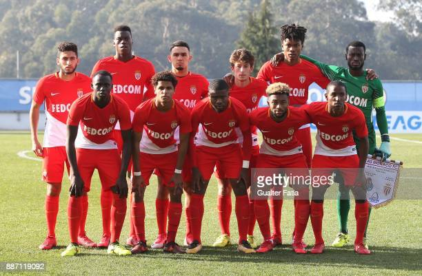 Monaco players pose for a team photo before the start of the UEFA Youth League match between FC Porto and AS Monaco at Centro de Estagios do Olival...