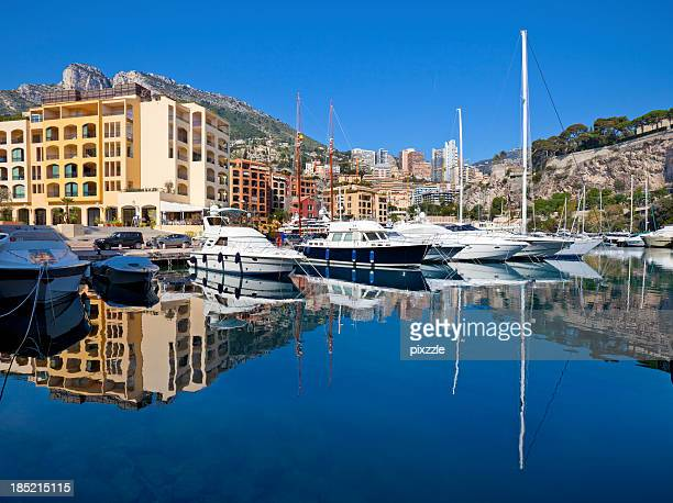 Monaco Residential Yacht Marina Reflection
