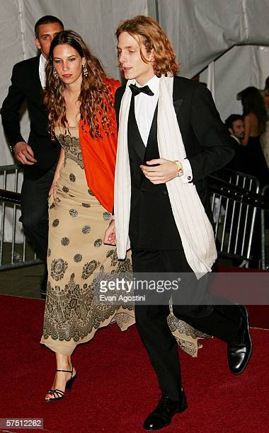 Monaco royal Andreas Casiraghi and date arrive at the Metropolitan Museum of Art Costume Institute Benefit Gala AngloMania Tradition and...