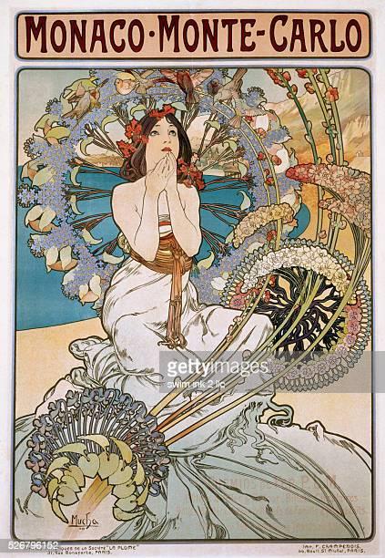 MonacoMonteCarlo Poster by Alphonse Mucha
