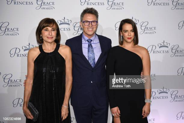 Monaco's ambassador to the US HE Maguy Maccario Doyle Tim Daly and Pauline Ducruet attend the 2018 Princess Grace Awards Gala at Cipriani 25 Broadway...