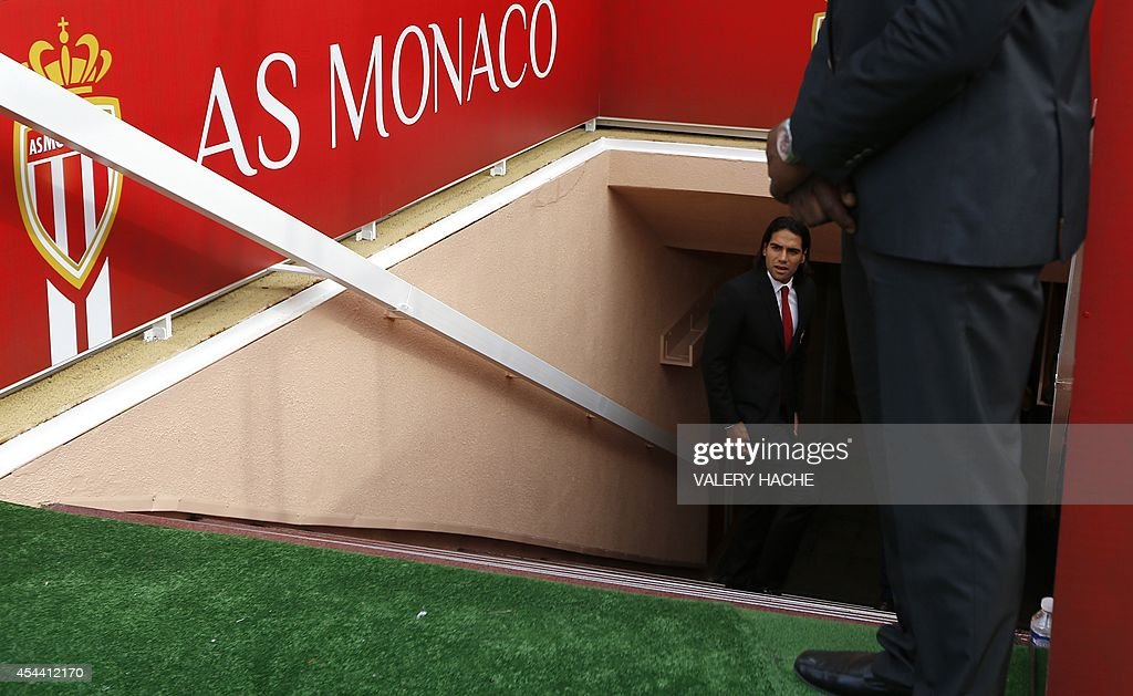 Monaco's Colombian forward Radamel Falcao attends the French L1 football match between Monaco and Lille at the Louis II stadium in Monaco on August 30, 2014. Falcao was dropped at the last minute from Monaco's matchday squad for the Ligue 1 clash with Lille amid mounting speculation that the Colombian is on his way out of the principality club. Real Madrid, Juventus and Manchester City have all been closely linked with a move for the 28-year-old, who did little to quell the speculation by posting a tweet which read: 'Dream come true #HalaMadrid'.