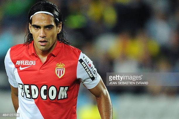 Monaco's Colombian forward Radamel Falcao is pictured during the French L1 football match between Nantes and Monaco on August 24 2014 at the...