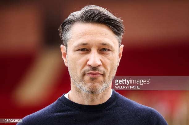 """Monaco's Croatian head coach Niko Kovac looks on during the French L1 football match between AS Monaco and FC Metz at the """"Louis II"""" stadium in..."""