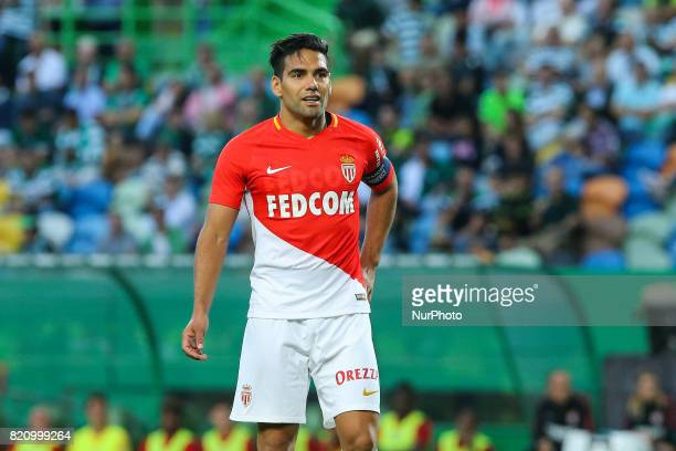 Monacos forward Radamel Falcao from Colombia during the Preseason Friendly match between Sporting CP and AS Monaco at Estadio Jose Alvalade on July...