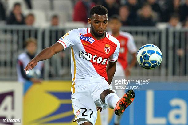 Monaco's French midfielder Thomas Lemar controls the ball during the French League Cup football match between Bordeaux and Monaco on December 16 2015...