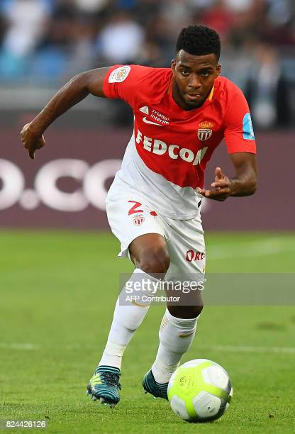Monaco's French midfielder Thomas Lemar controls the ball during the French Trophy of Champions football match between Monaco and Paris SaintGermain...