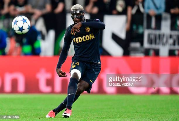 Monaco's French midfielder Tiemoue Bakayoko kicks the ball during the UEFA Champions League semi final second leg football match Juventus vs Monaco...