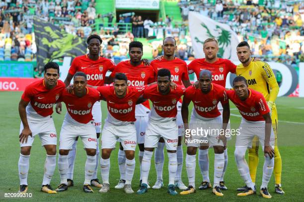 Monacos initial team during the Preseason Friendly match between Sporting CP and AS Monaco at Estadio Jose Alvalade on July 22 2017 in Lisbon Portugal